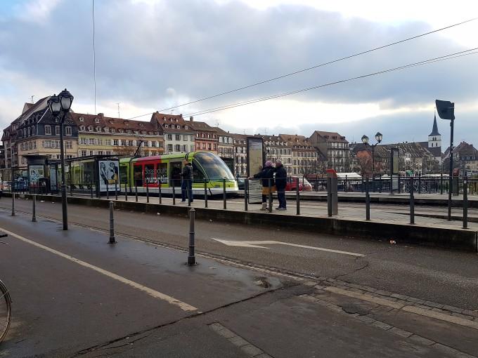 Tram stop strasbourg