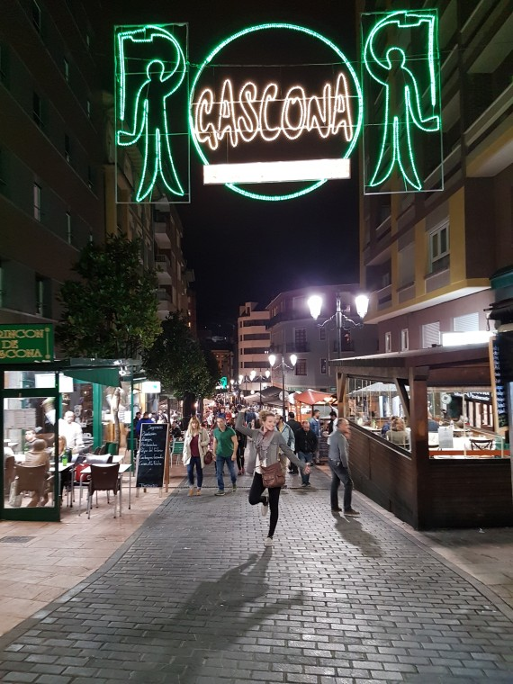 me on Gascona street in Oviedo with all the sidra restaurants.jpg