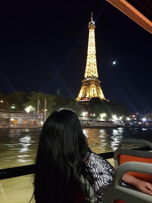 Wafa on the cruise