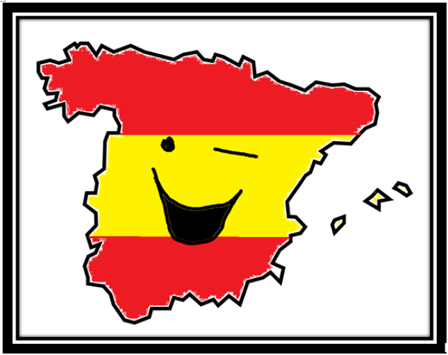 Smiling Spain framed