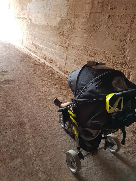 Reflective gear on stroller